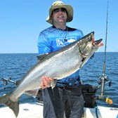Chris Displaying a Big King Salmon!