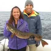 Corey and Alexa Displaying Big Northern!