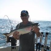 Dennis with Skipper Salmon!