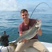 Don Holding a Big Lake Trout!