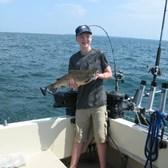 Evan Displaying a Nice Brown Trout!