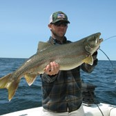 Gavin With Monster Lake Trout!