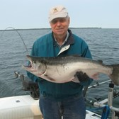John Showing Off His Nice Coho!