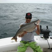 Josh Holding A Big Lake Trout!