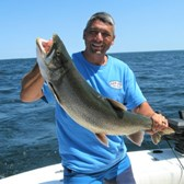 Mark Displaying a Big Laker!