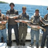Matt Zehr Party With Nice Lake Trout Catch!
