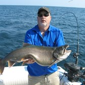 Matt with 20 Pound Lake Trout!