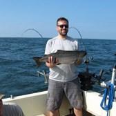 Mike Displaying A King Salmon!
