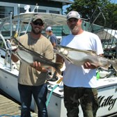Miles & Jim Holding Their Lunker Lakers!