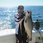 Rachael Displaying Her 19 Pound Lunker Laker!