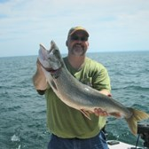 Rick Displaying a Big Laker!