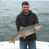 Steve With A Nice Lake Trout!
