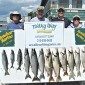 The Sean Scheidle Party With Ctach of 5 Kings, 6 Lake Trout & 1 Steelhead!