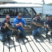 Henderson Harbor Fishing with Milky Way Charters - Tim Suiter with half their Spring Walleye catch