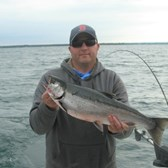 Ty Showing Off His Coho!