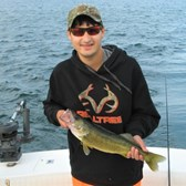 Zach Displaying His Walleye!