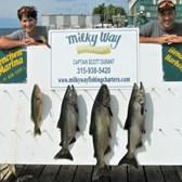 Zach & Bill's Catch of 3 Big Kings & Walleye!