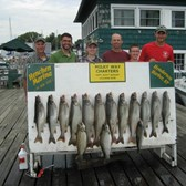 Henderson Harbor Fishing with Milky Way Charters - Bob Roes party - Lakers & Browns!