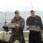 Henderson Harbor Fishing with Milky Way Charters - A couple of nice Browns!