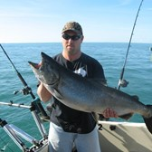 Henderson Harbor Fishing with Milky Way Charters - Huge King!