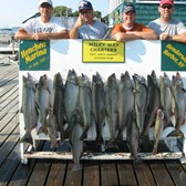 Henderson Harbor Fishing with Milky Way Charters - Jeff Jones party - catch of 14 Kings, 1 Brown & 1 Laker!