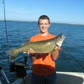 Henderson Harbor Fishing with Milky Way Charters - Matt Widrick - hard to top his first ever Walleye at 12 lbs.!