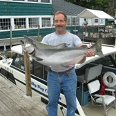 Henderson Harbor Fishing with Milky Way Charters - Nice King by the Milky Way!