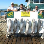 Henderson Harbor Fishing with Milky Way Charters - Ryan Ordway party with 6 Kings & a Brown