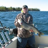 Henderson Harbor Fishing with Milky Way Charters - Another nice catch for Tim, Jr!