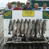 Henderson Harbor Fishing with Milky Way Charters -  Titus Mast party - Great Day!