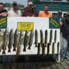 Henderson Harbor Fishing with Milky Way Charters - A nice Corporate Charter Catch Balchem DiamondV and West Central