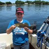 Henderson Harbor Fishing with Milky Way Charters - Derek Holding His Bass!