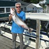 Henderson Harbor Fishing with Milky Way Charters - Bill Holding Lunker Laker!