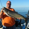 Henderson Harbor Fishing with Milky Way Charters - Big John with Big King!