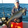 Henderson Harbor Fishing with Milky Way Charters - Bobby Showing off His King!