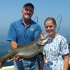 Henderson Harbor Fishing with Milky Way Charters - Big Laker Caught by the Youngest Zimmerman Girl