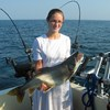 Henderson Harbor Fishing with Milky Way Charters - Big Sister Showing Off Her Lake Trout!