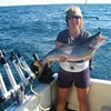 Henderson Harbor Fishing with Milky Way Charters - Jennie Holding Monster Laker!