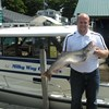 Henderson Harbor Fishing with Milky Way Charters - Reuben Holding Lake Trout!