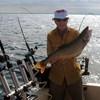 Henderson Harbor Fishing with Milky Way Charters - John Holding Nice Lake Trout!