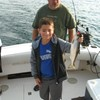 Lawrence With a Skipper Salmon!