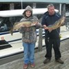 Scott & Guy Back at the Dock Displaying Their Walleye!