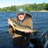 Henderson Harbor Fishing with Milky Way Charters - Carl displaying his Walleye!