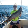 Henderson Harbor Fishing with Milky Way Charters - Molly Showing off Her Lunker Lake Trout!
