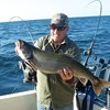 Henderson Harbor Fishing with Milky Way Charters - Marvin Showing Off Laker!