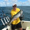 Henderson Harbor Fishing with Milky Way Charters - Matt Displaying a Laker!