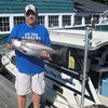 Henderson Harbor Fishing with Milky Way Charters - Steve Holding His King Salmon!