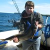 Henderson Harbor Fishing with Milky Way Charters - Abram Showing Off His Trout!
