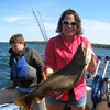 Henderson Harbor Fishing with Milky Way Charters - Taren Holding Trophy Lake Trout!