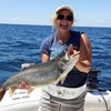 Heather Feeling Good About Her Lunker Laker!